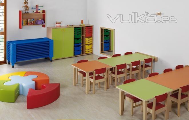 Foto mobiliario escolar ambiente parvulario for Decoracion salas jardin de infantes