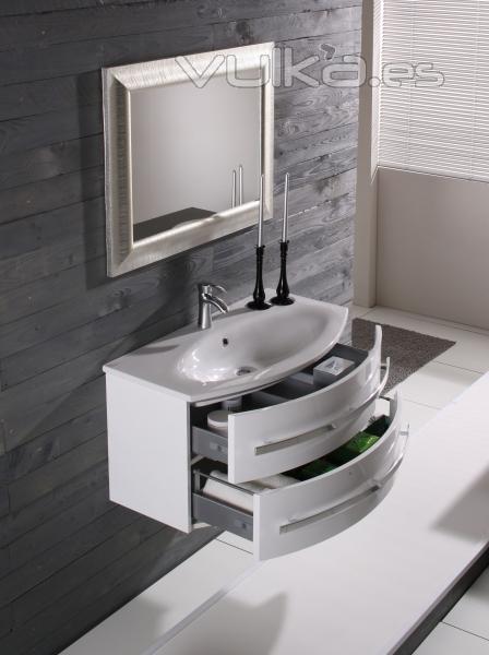 Mueble de baño moderno lavabo ceramica alta calidad en wwwlineabaño