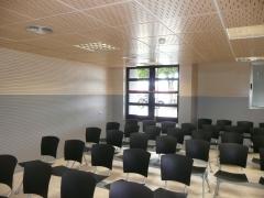 Sala de conferencias techo gama spigotec y paramentos gama spigoacustic