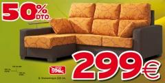 Sofa chaisselongue con un 50 % de descuento