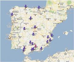 Mapa Delegaciones. Originalmusic instala en toda Espa�a!