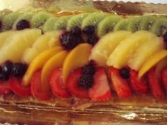 Tarta de hojaldre y fruta fresca,