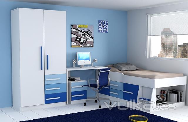 Dormitorio Verde Y Azul: Dormitorio para bebe en turquesa verde y ...