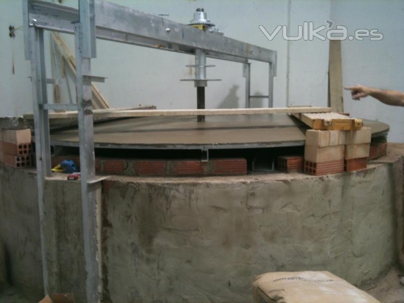 Foto montaje de horno giratorios tradicional de le a - Hornos de lena planos ...