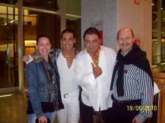Nuestros amigos Antonio Canales y Amador Rojas