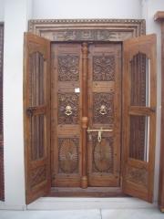 Puerta antigua mod. 20010-p692 de madera de teca