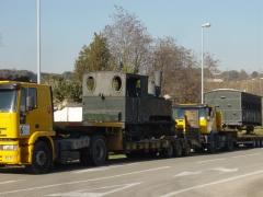 Transporte maquinas locomotoras