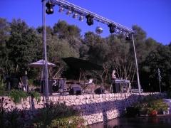 Iluminación y sonido para show, fiesta privada