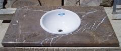 Encimera lavabo piedra caliza. canteras leonesas