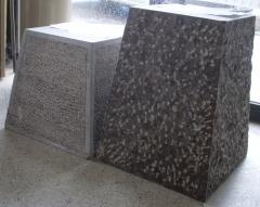 Peanas piedra caliza negra. canteras leonesas