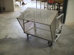Carro basculante para transporte tapones de corcho