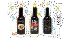 Velas en forma de botella de vino 100% cera