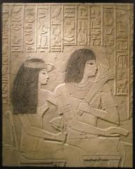 Estela de ramose. detalle de la gran escena en relieve de la tumba de ramose (nacido de ra), xviii dinast�a, (hacia ...