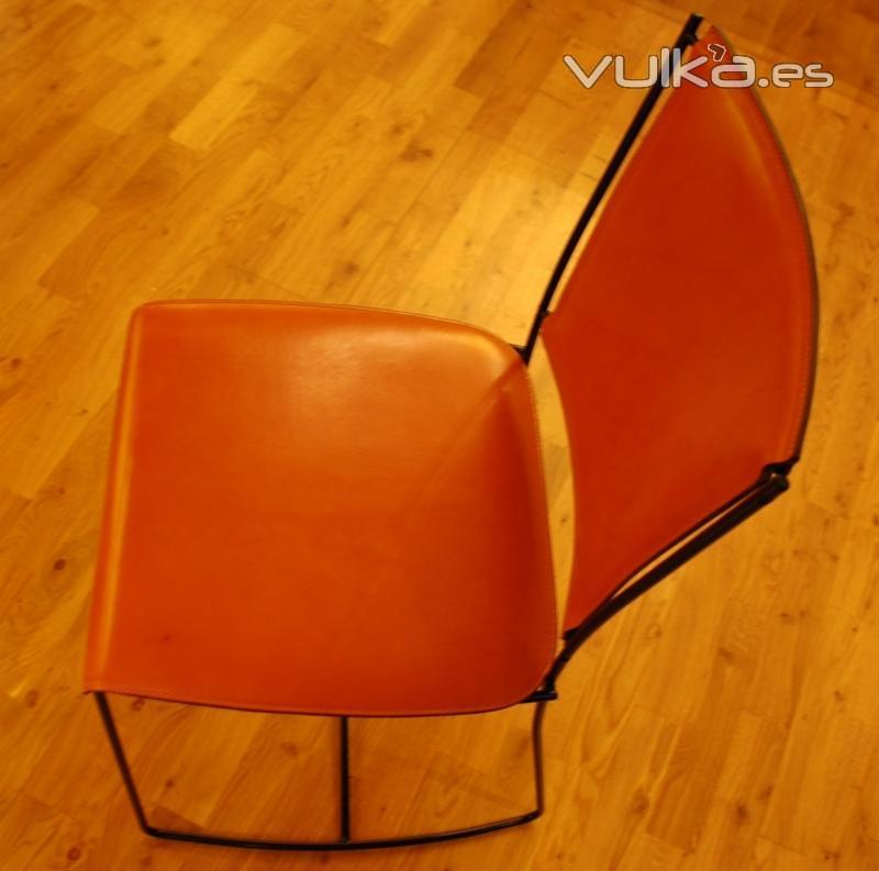 cadira de ferro i cuir