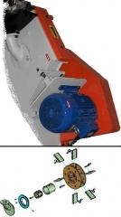 Turbina para granalladora (turbinas de granallado)