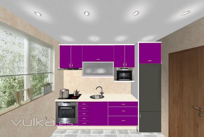 Reformas Baños Hortaleza:Foto: Diseño de cocina en color lila