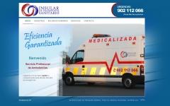 Web de la empresa de ambulancias Insular de transporte sanitario (www.insulardetransportesanitario.com)