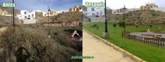 Parque aguadulce antes y despues