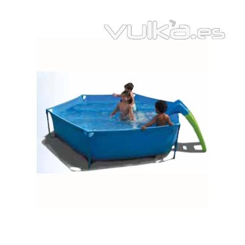 Foto piscina tubular infantil con tobogan toi - Piscina infantil con tobogan ...