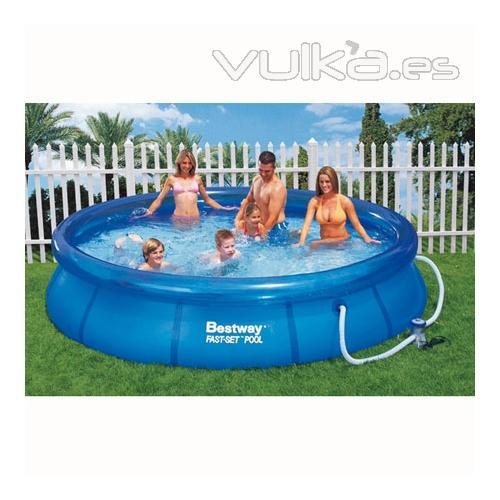 Foto piscina hinchable con depuradora incluida for Piscina hinchable rectangular con depuradora