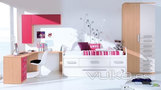 foto habitacion juvenil con vinilo decorativo dormitorio