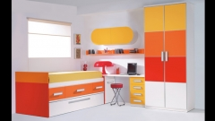 Armario de puertas panelables y cama compacto. dormitorio juvenil whynot new