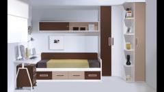 Armario rincon en colores tierra y chocolate. dormitorio juvenil whynot new