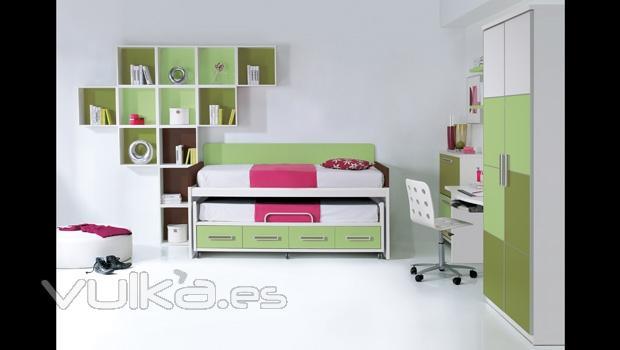 Foto compacto con ruedas y estanterias cubo dormitorio - Estanterias para dormitorios ...