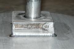 Pie de valvula escoriador de acero inoxidable aisi 316 detalle soldadura tig