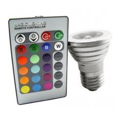 Bombilla led con mando a distancia para que controles la intensidad y el color de luz que prefieras
