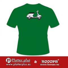 Camisetas hooops de vespa en plotterplus, una mezcla de objetos cotidianos y colores intensos en la coctelera, un ...