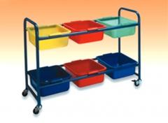 Mobiliario escolar  carrito gavetero guarderia