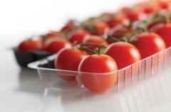 Bandejas y tarrinas transparentes para frutas y verduras