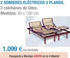 camas electricas dobles