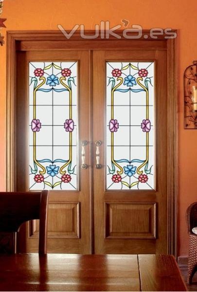 Aluminio y cristal clina s l elche alicante - Decorar cristales de puertas ...