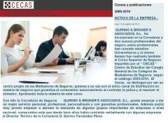 Quirino & brokers,  incorpora a dos hijos del actual director técnico, profesionales cualificados con el curso ...