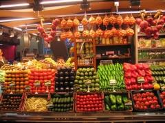 Mostrador verduras
