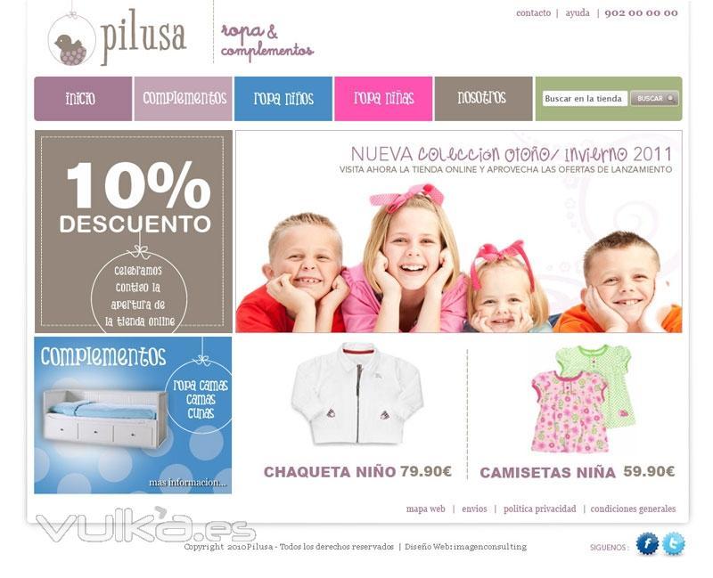 9b1b4d6e94f Diseño y desarrollo de Tienda Online para Pilusa Ropa y Complementos para  niños
