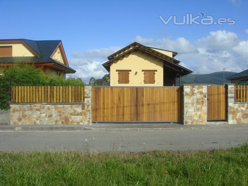 Casas prefabricadas madera cierres de fincas asturias - Cierres de madera para fincas ...