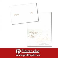 Invitaciones de boda cl�sicas e informales en imprenta plotterplus