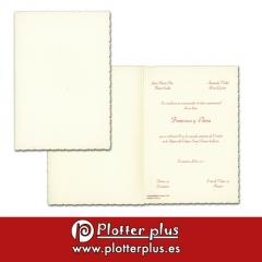 Invitaciones de boda clásicas e informales en imprenta plotterplus
