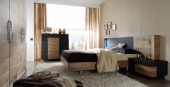 Elipsos , dormitorio de nogal y fresno
