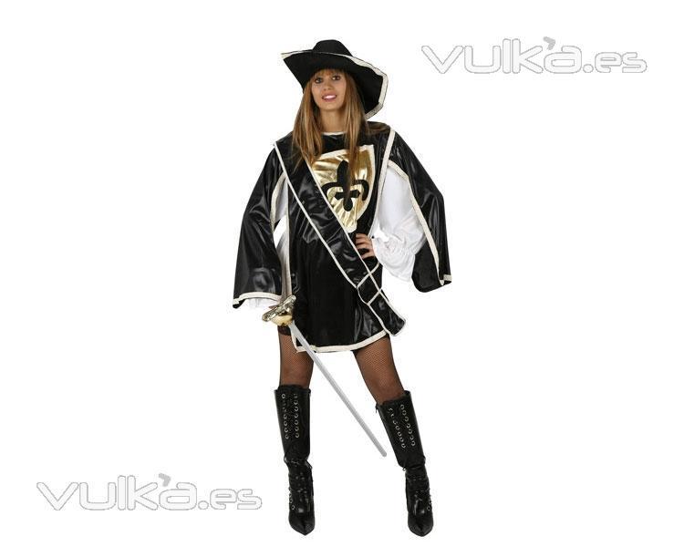 Disfraz de Mosquetera Negra