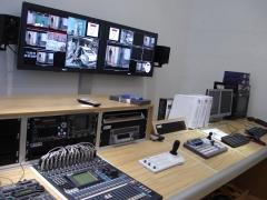 Realización y plató de la televisión regional de murcia