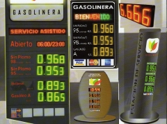 Preciarios para estaciones de servicios y gasolineras. modelos a su imagen corporativa. fabricados a medida