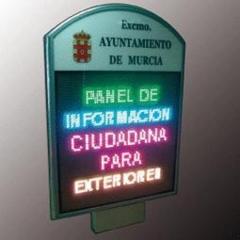 Paneles de informaci�n ciudadana interior / exterior a 1 o 2 caras. paneles totalmente programables por ...