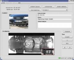 Moderno sistema de scanner de bajos de vehículos, propio para entornos donde se requiere muy alta seguridad. en el ...