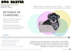 Diseño web de peluquería canina y criador de schnauzer miniatura sal y pimienta. dogbuster.es