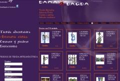 Diseño web de tienda de artesanía étnica www.danadagda.es