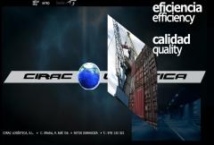 Dise�o web de empresa de transporte y log�stica ciraclogistica.es